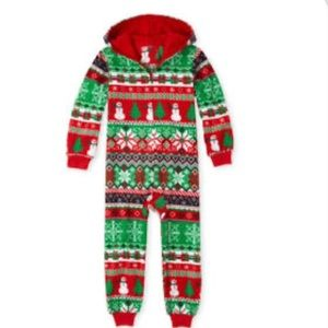 The Childrens Place hooded one piece  pajamas